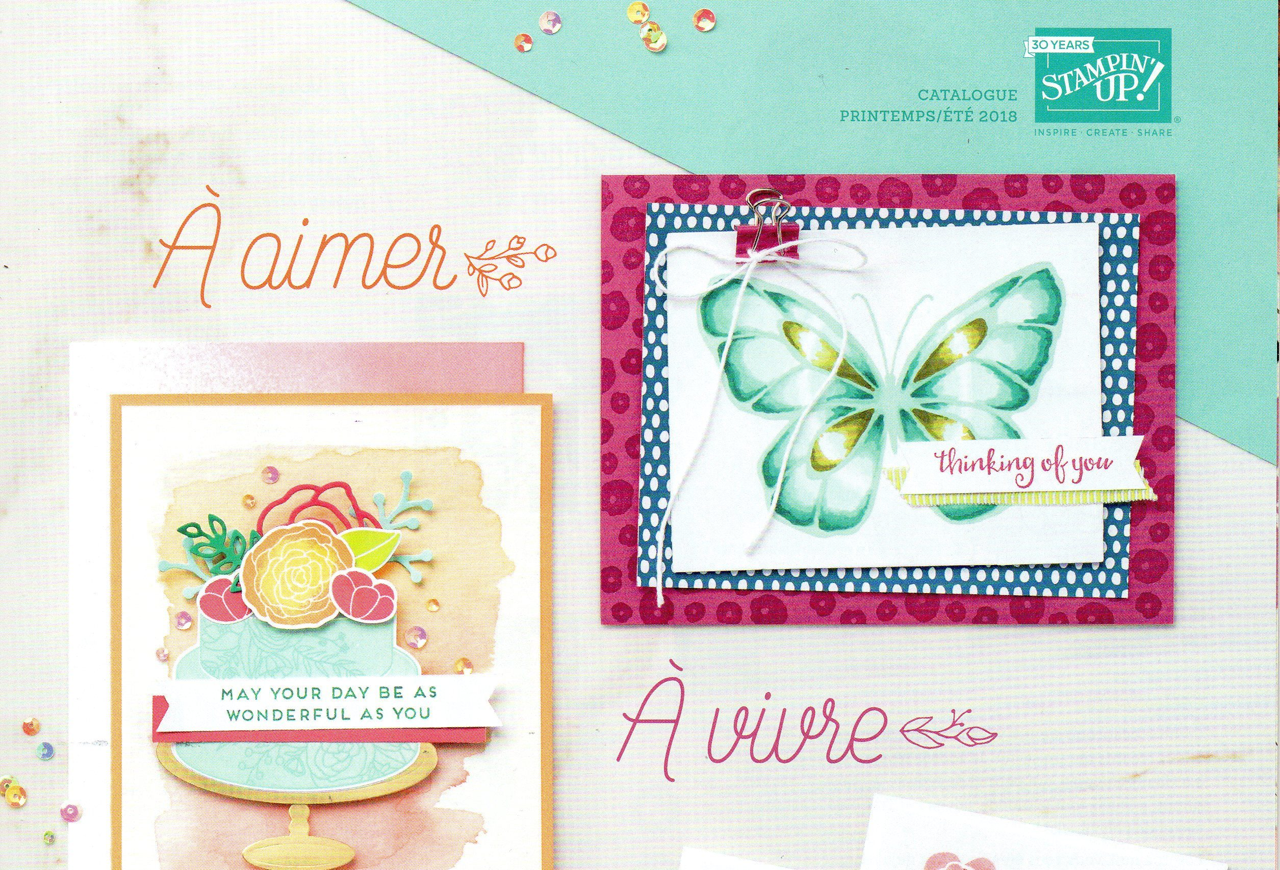 CATALOGUE STAMPIN'UP! PRINTEMPS - ÉTÉ 2018